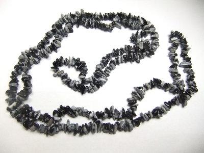 sneeuwvlok obsidiaan split ketting
