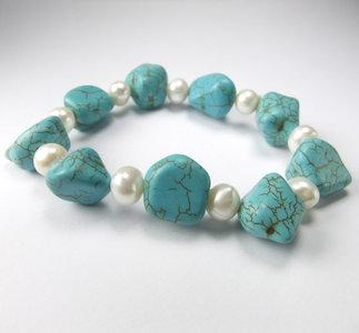 turquoise/turkoois armband