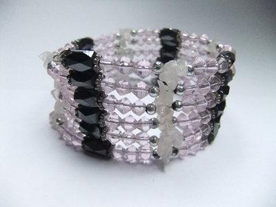 rozenkwarts armband ketting